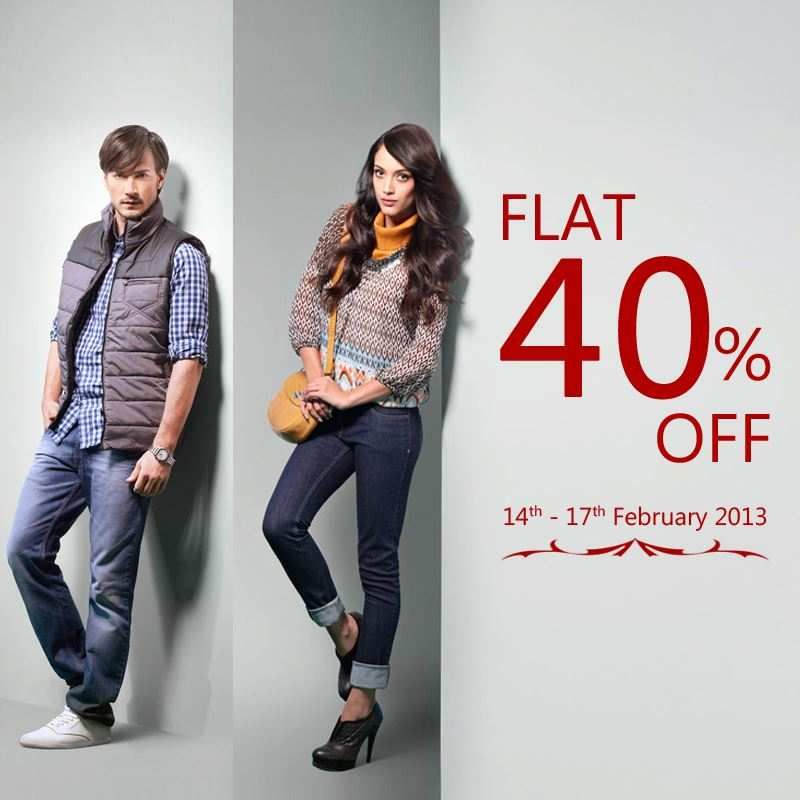 f56017c00088 Valentine's Day Sale - Flat 40% off at Wills Lifestyle Stores from 14 to 17  Feb 2013 | Deals, Sales, Offers, Discounts in Delhi-NCR | MallsMarket