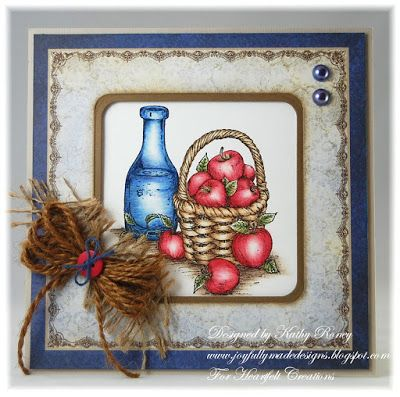 Joyfully Made Designs by Kathy Roney - made using Heartfelt Creations' Farmers Market Collection of stamps and designer papers