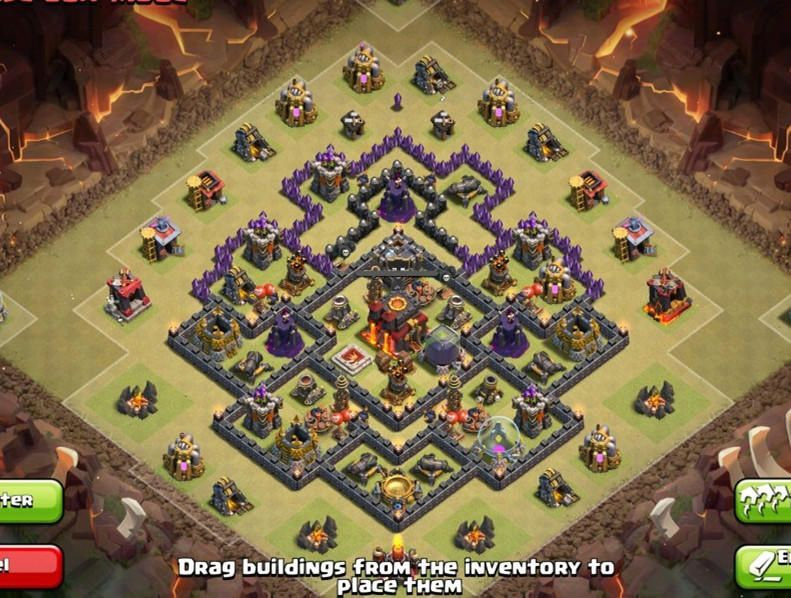 Town Hall  War Base Anti Dragon And Hog Design In Clash Of Clans