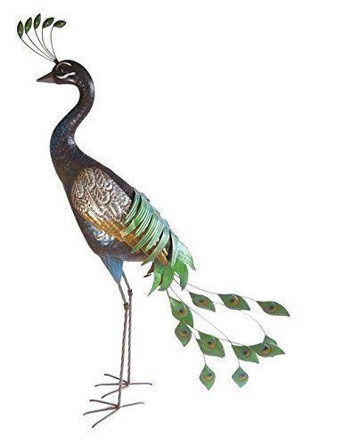Supa Tall Peacock Garden Decor