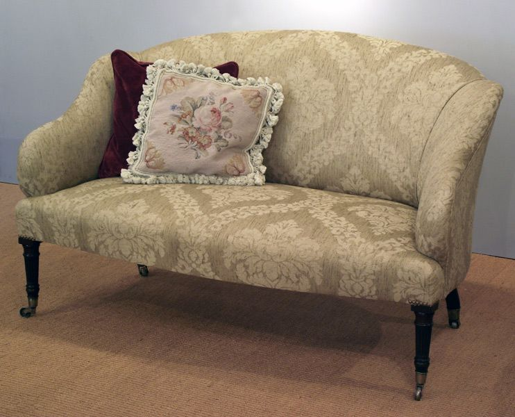 Small Antique Mahogany Sofa, Georgian Settee : Antique Armchair UK   Antique  Settee   Open Armchair   Mahogany Armchair   Upholstered Armchairs, Sofas