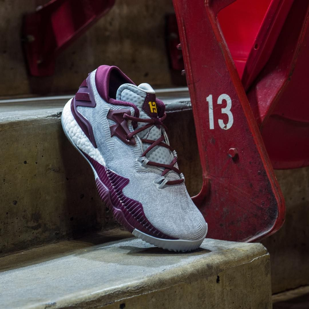 The latest James Harden edition adidas Crazylight 2016 takes on a colorway  from the baller's college alma mater, Arizona State University. The ASU  look is