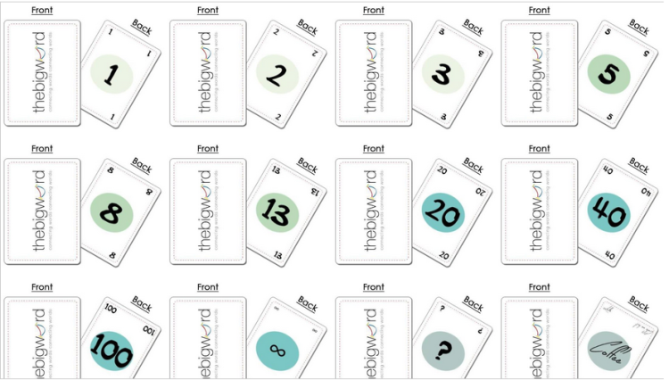 Printable Planning Poker Cards Planning Poker Poker Cards Card Template