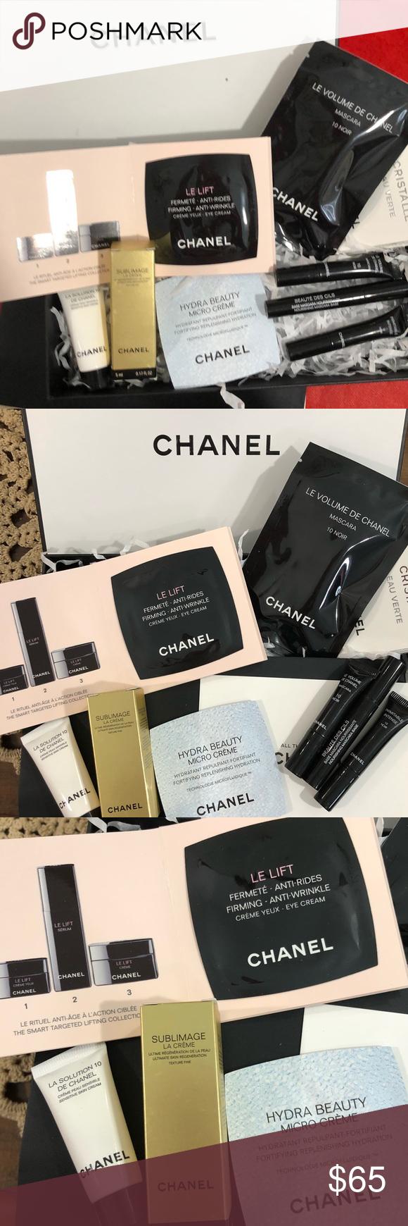 3e7ebd3c9b1b Chanel deluxe 📵Price Firm📵 Chanel new high end samples includes: 1  Sublimage la creme skin regeneration, 1 La Solution skin cream, 1 Hydra  Beauty Micro ...