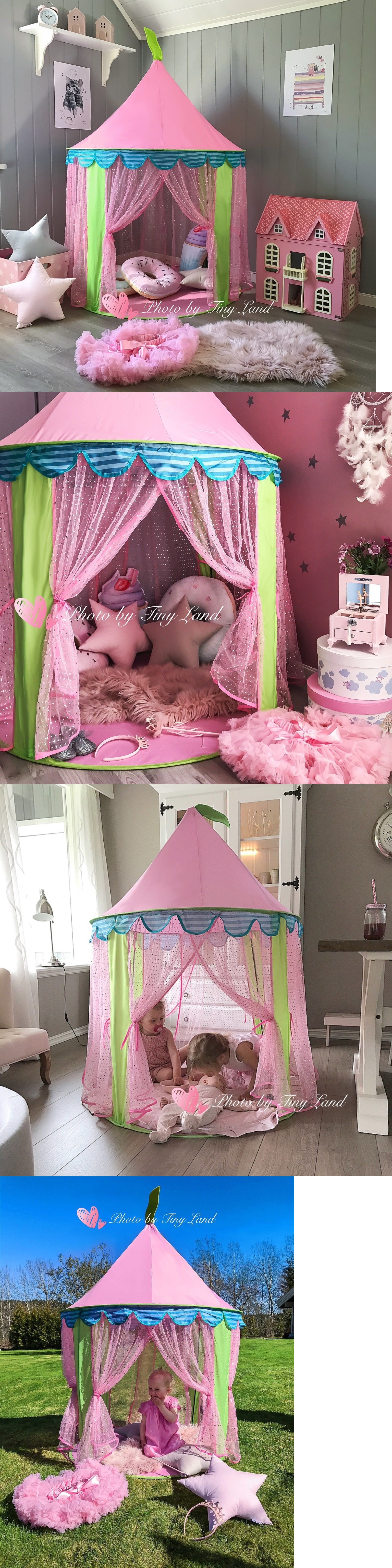 Play Tents 145997 Fairy Tale Princess Castle Play House Tent For Girls Toy Foldable Portable & Play Tents 145997: Fairy Tale Princess Castle Play House Tent For ...
