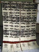 Khasa or Fulani blanket, wool, Mopti Mali - Fulani Blankets consists of heavy woolen striped blankets that are woven by the Fulani of Mali.