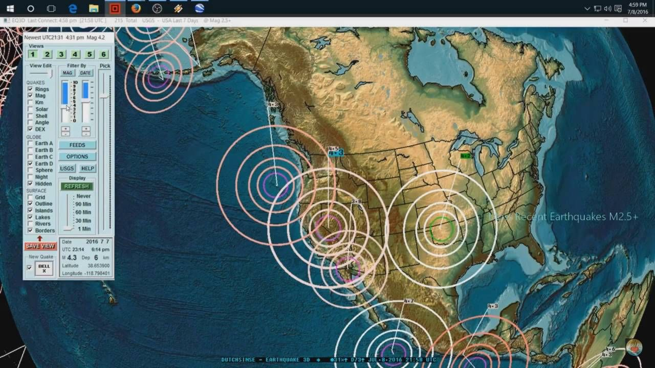 West Coast and Midwest Earthquake Unrest