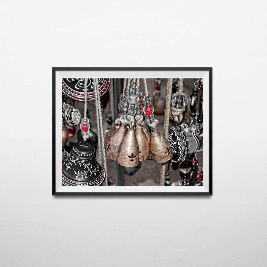 Bells photography, Home decor, Rustic brass bells, Beautiful bells, Black and White photography,Red and Black,Brass bells,Still Life Photo by flyingbike on Etsy