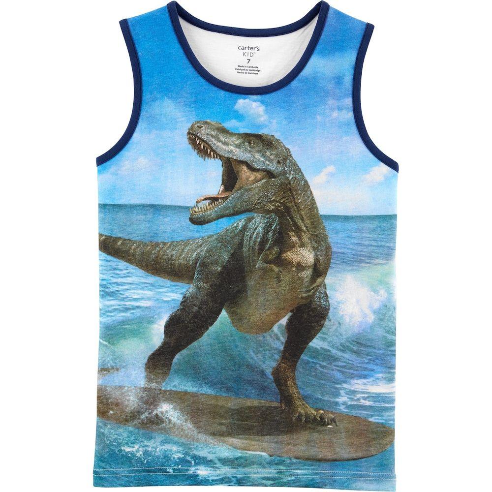 New Carter/'s Dinosaur Boys Shirt Tank Top Blue 6,10//12,14