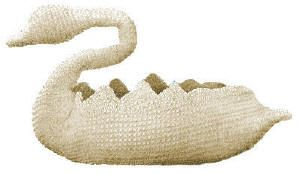 Swan Candy Dish Antique Crochet Pattern for download