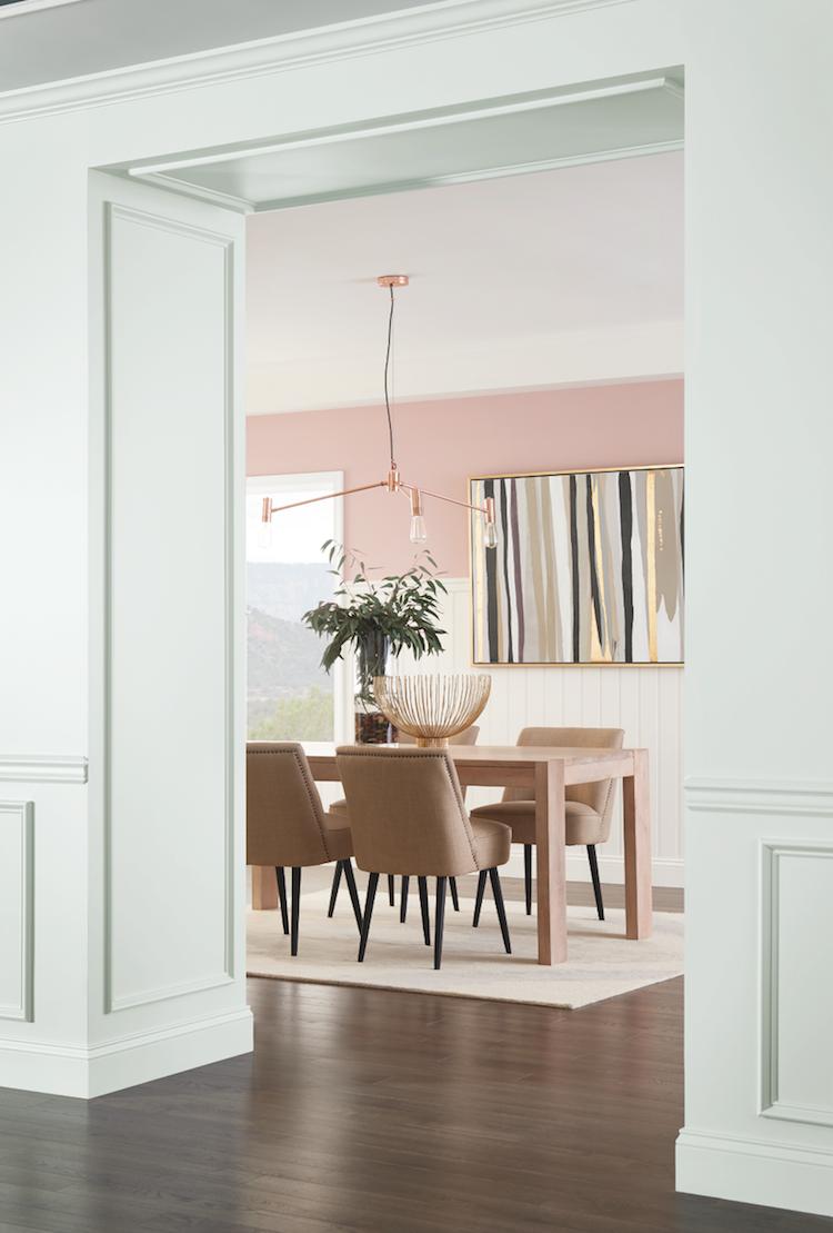 couleurs tendance 2018 nuances minimalistes trs ples salle manger