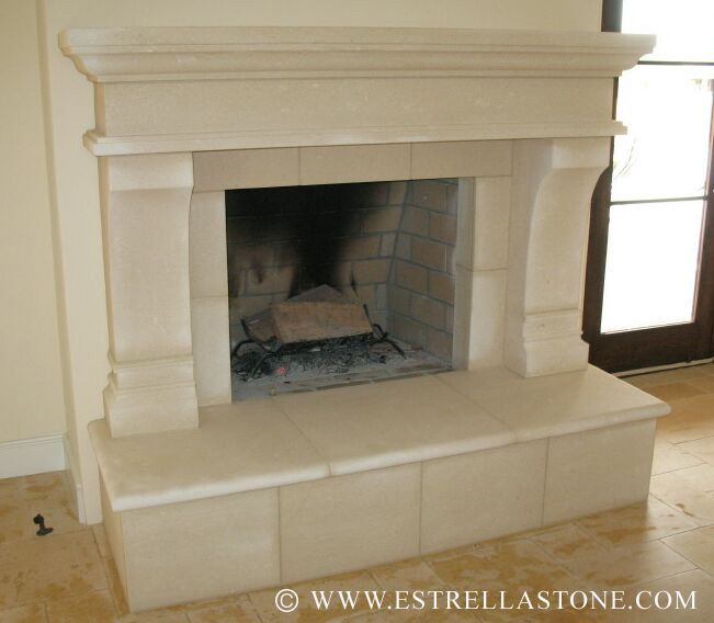 vicenza italian limestone fireplace picture for the home