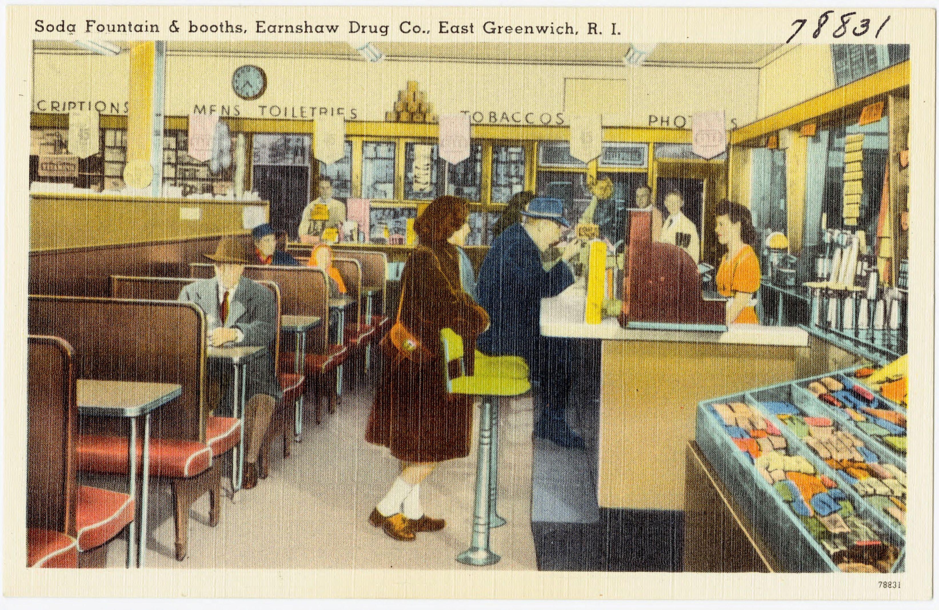 Drugstore fountain c. 1948
