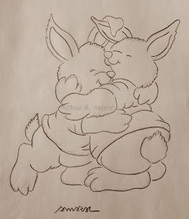 Arte * Vida: Coelhos se Abraçando