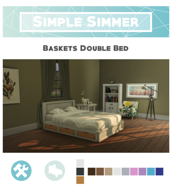 Baskets Double Bedframe By Simplesimmer Via Tumblr Bedroom Sims