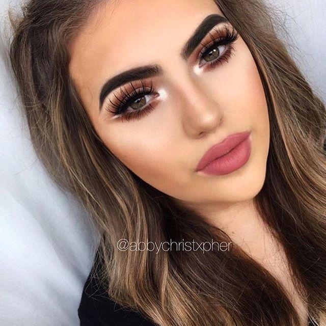 modern renaissance look abbychristxpher brows dipbrow