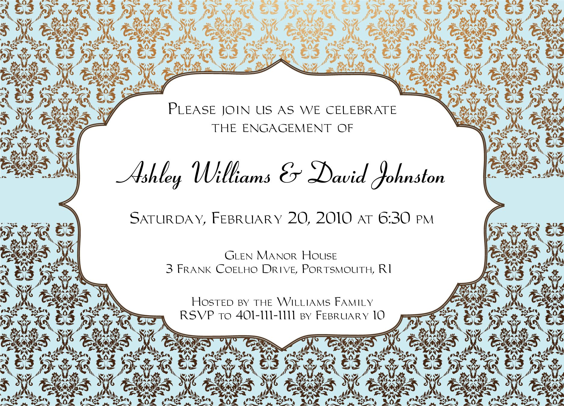 Engagement party invitations templates invitation for Wedding invitation cards nelspruit