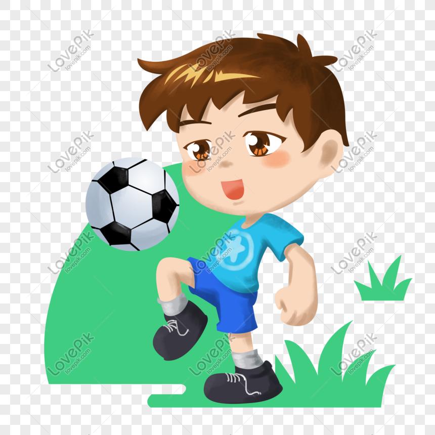 Kartun Anak Anak Olahraga Ilustrasi Sepak Bola Remaja Kartun Ilustrasi Remaja