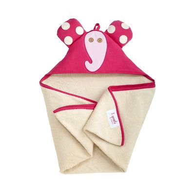 3 Sprouts Pink Elephant Hooded Towel | AllModern