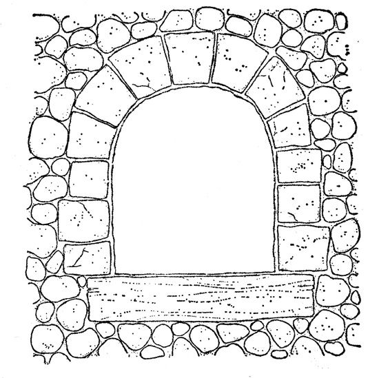 Stone Window Arch Magnolia Stamps Pattern Coloring Pages