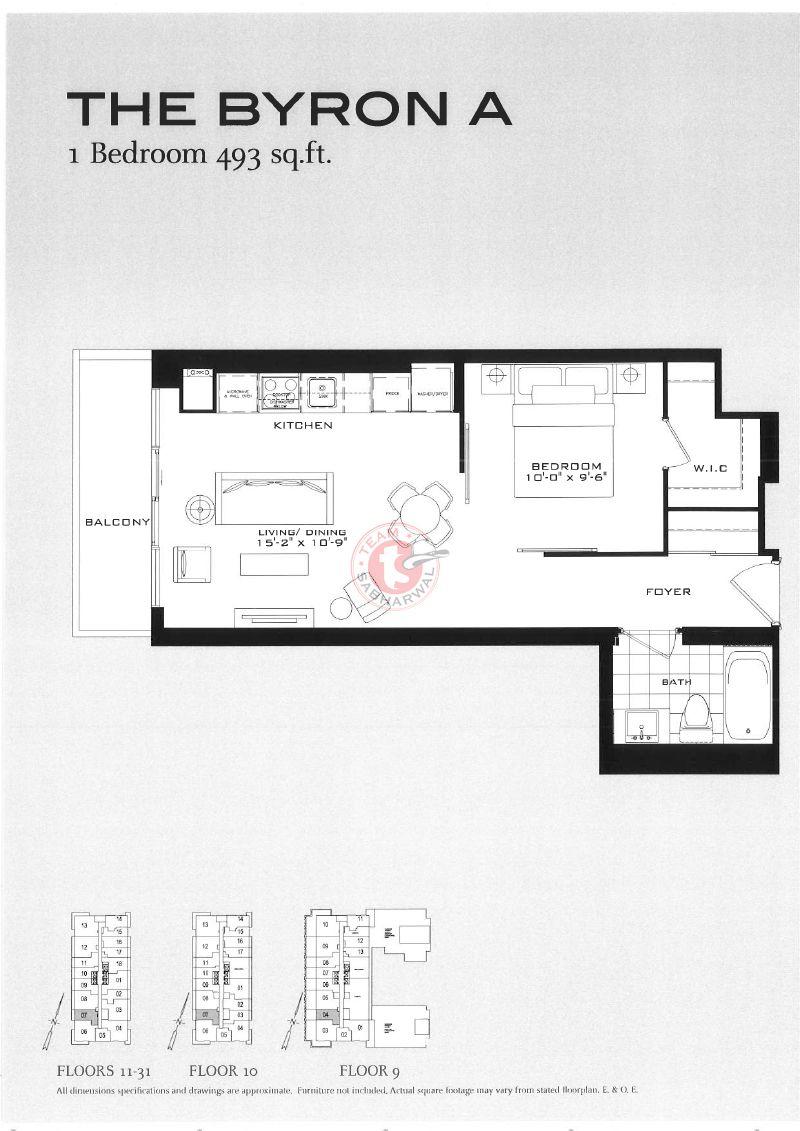 The Byron A Floor Plans For The Britt Condos Sutton Place