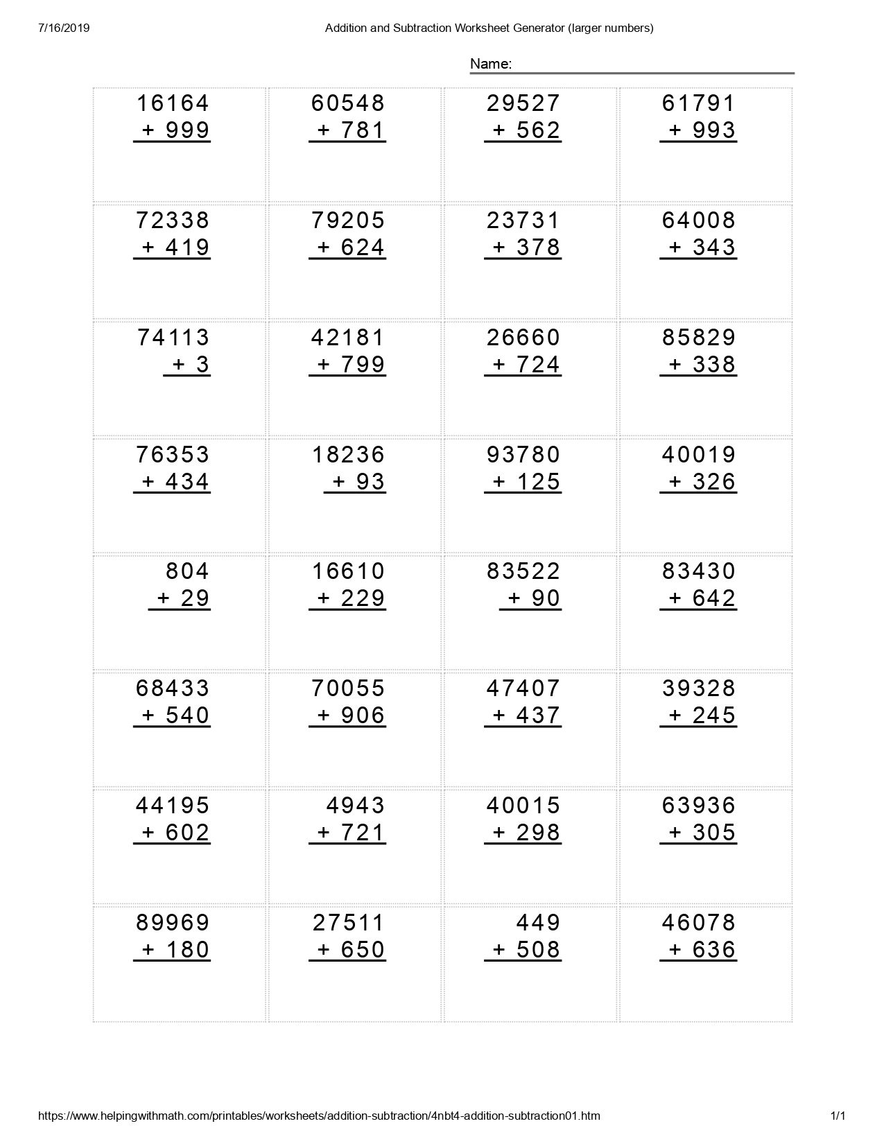 Best 10+ Addition and Subtraction Worksheet (With images