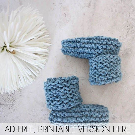 Easy Baby Booties Knitting Pattern Baby Booties Knitting Patterns