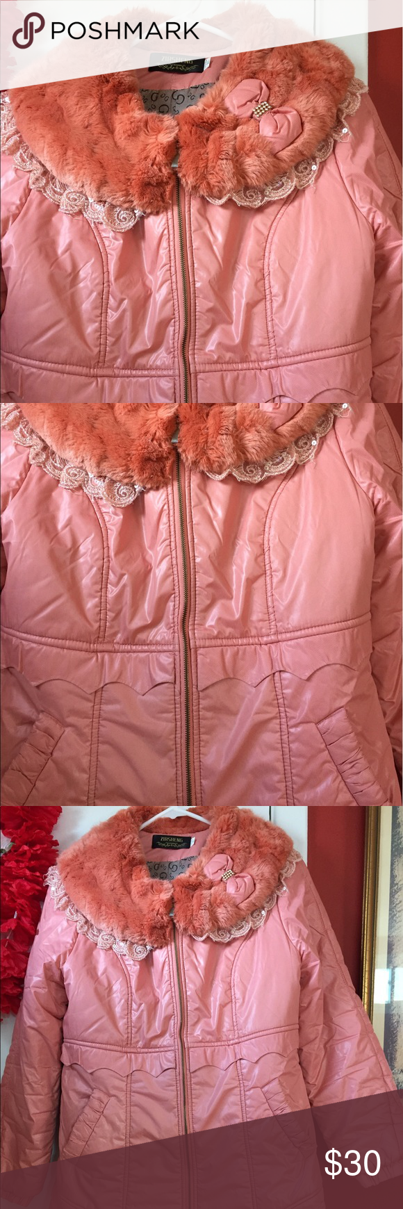 Winter girl's coat Suitable for winter, it is very warm and gentle ...