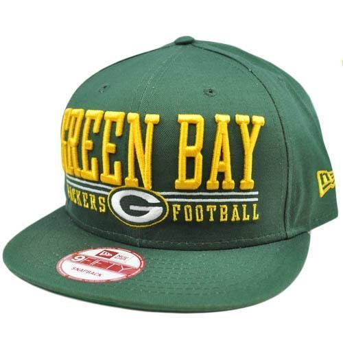 huge selection of 6f7eb 5c930 New Era 9Fifty 950 NFL Green Bay Packers Lateral Snapback Flat Bill Brim Hat