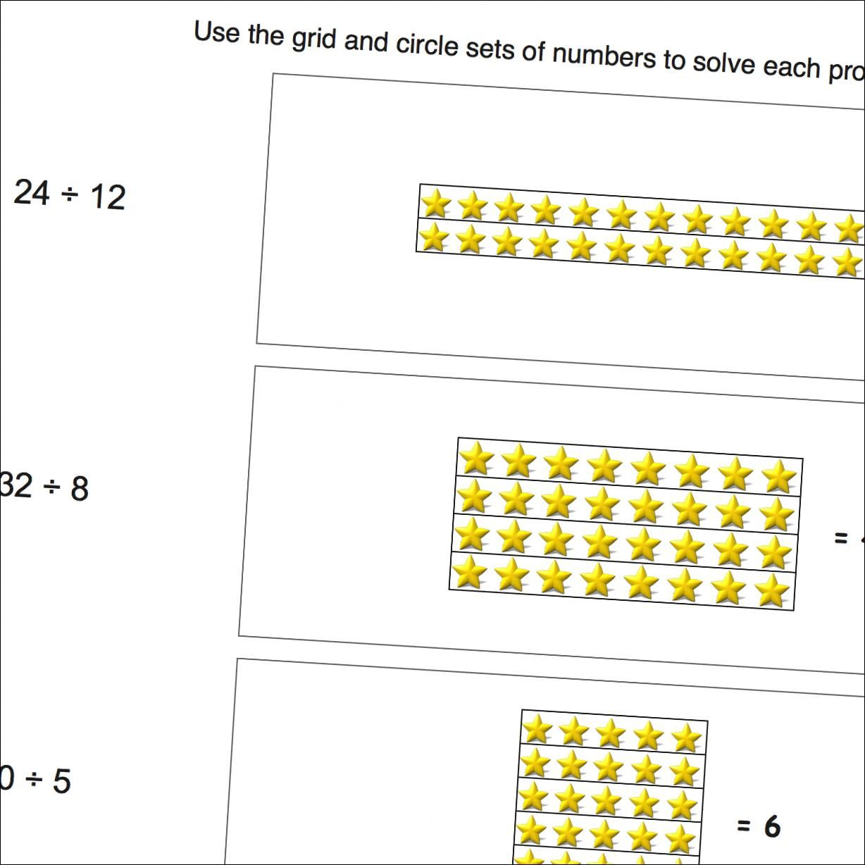 Math Worksheets Division Picture Math