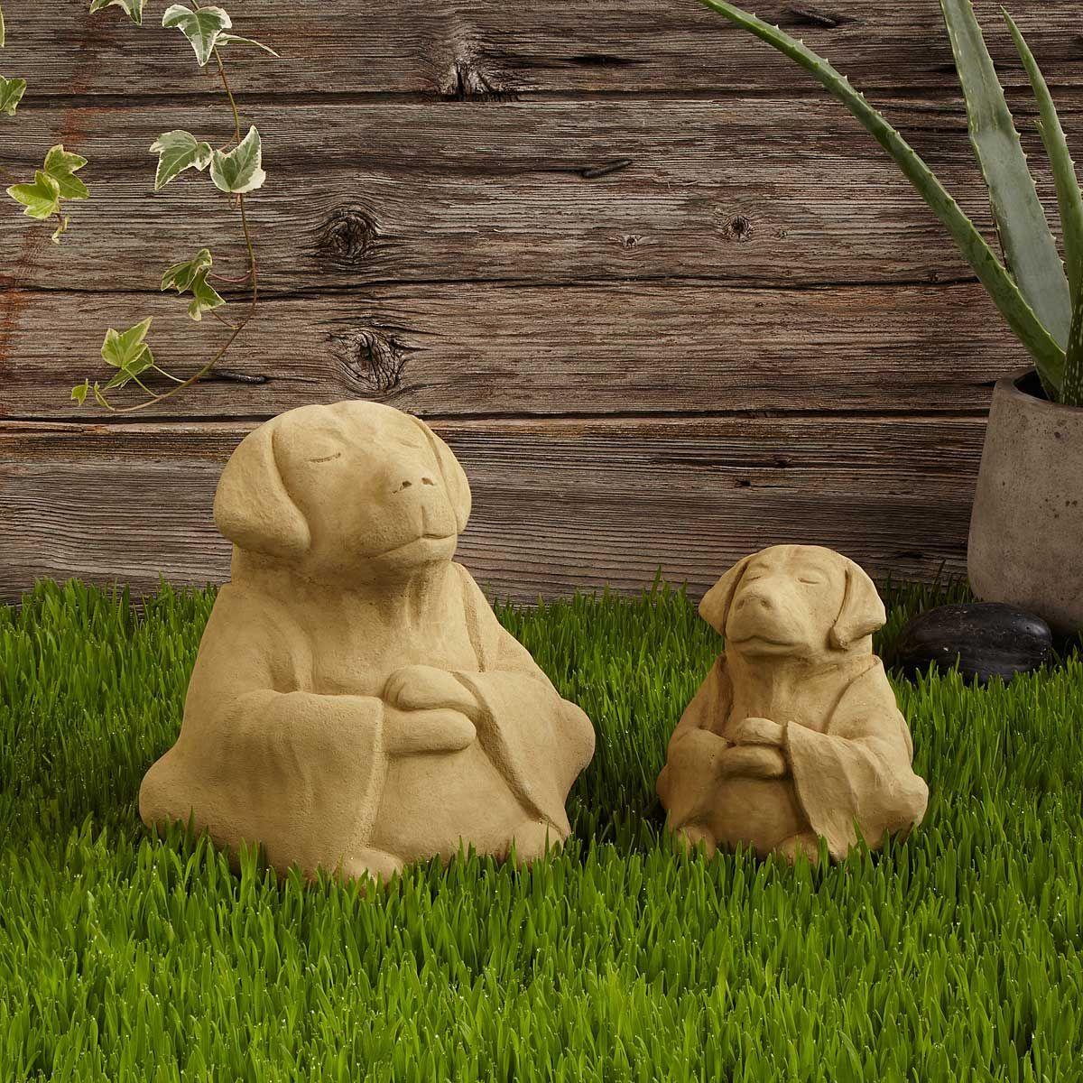 Zen Dog Garden Sculpture   Fun Stuff   Pinterest   Dog garden ...