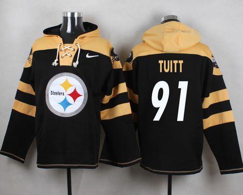 Nike Steelers  91 Stephon Tuitt Black Player Pullover NFL Hoodie ... 47db95d28