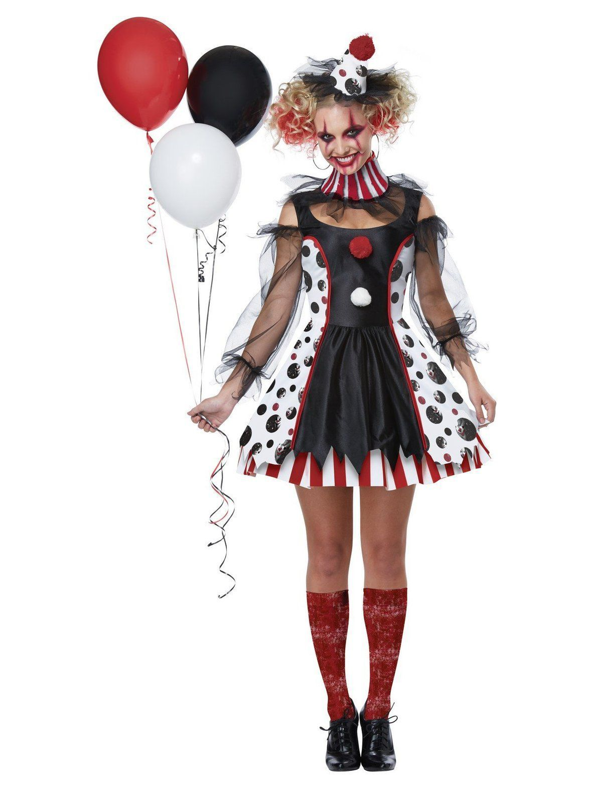 d2b09073bdef3 Women's Twisted Clown Costume in 2019   Halloween costumes   Clown ...
