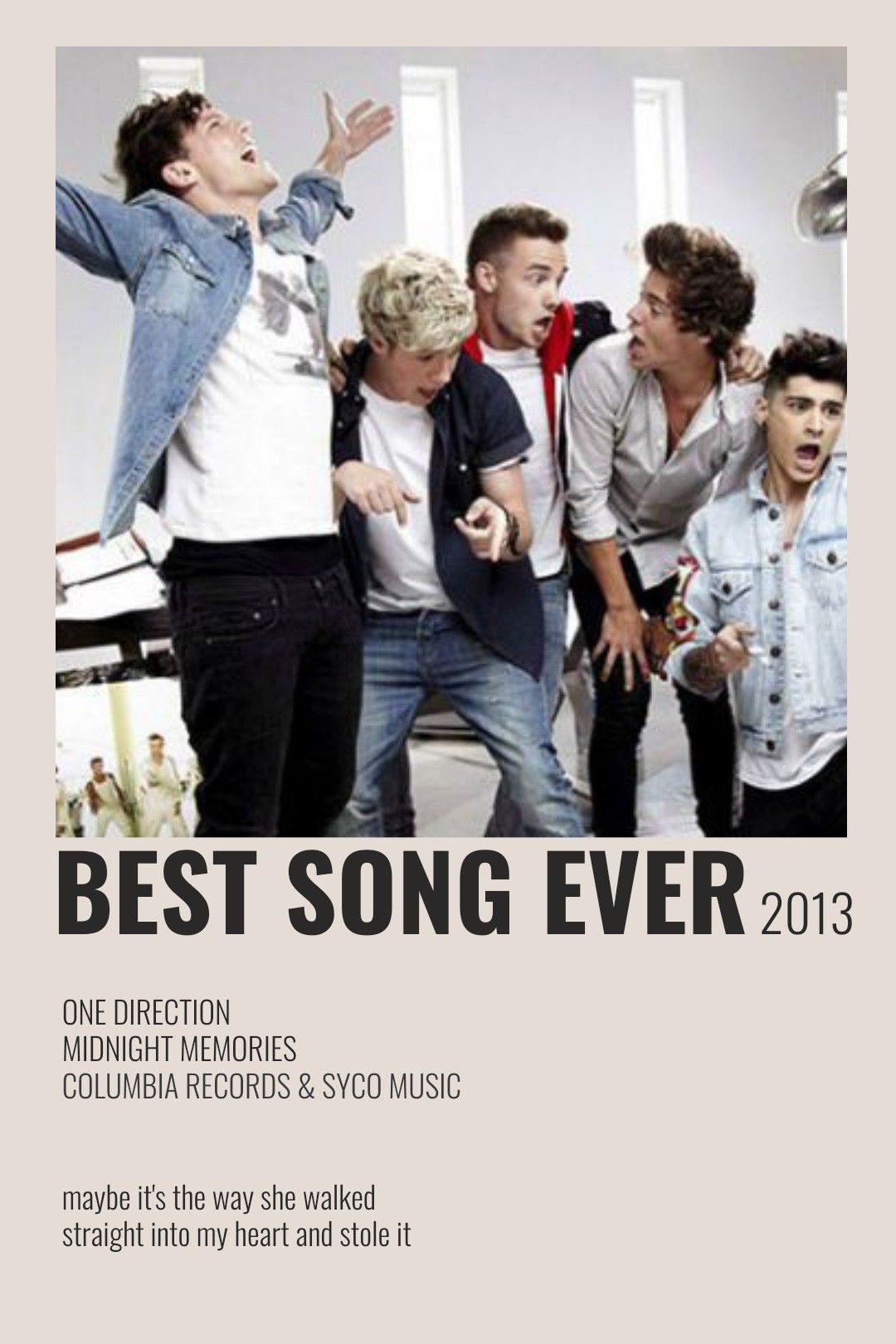 Best Song Ever By One Direction One Direction Posters One Direction Songs Song Posters