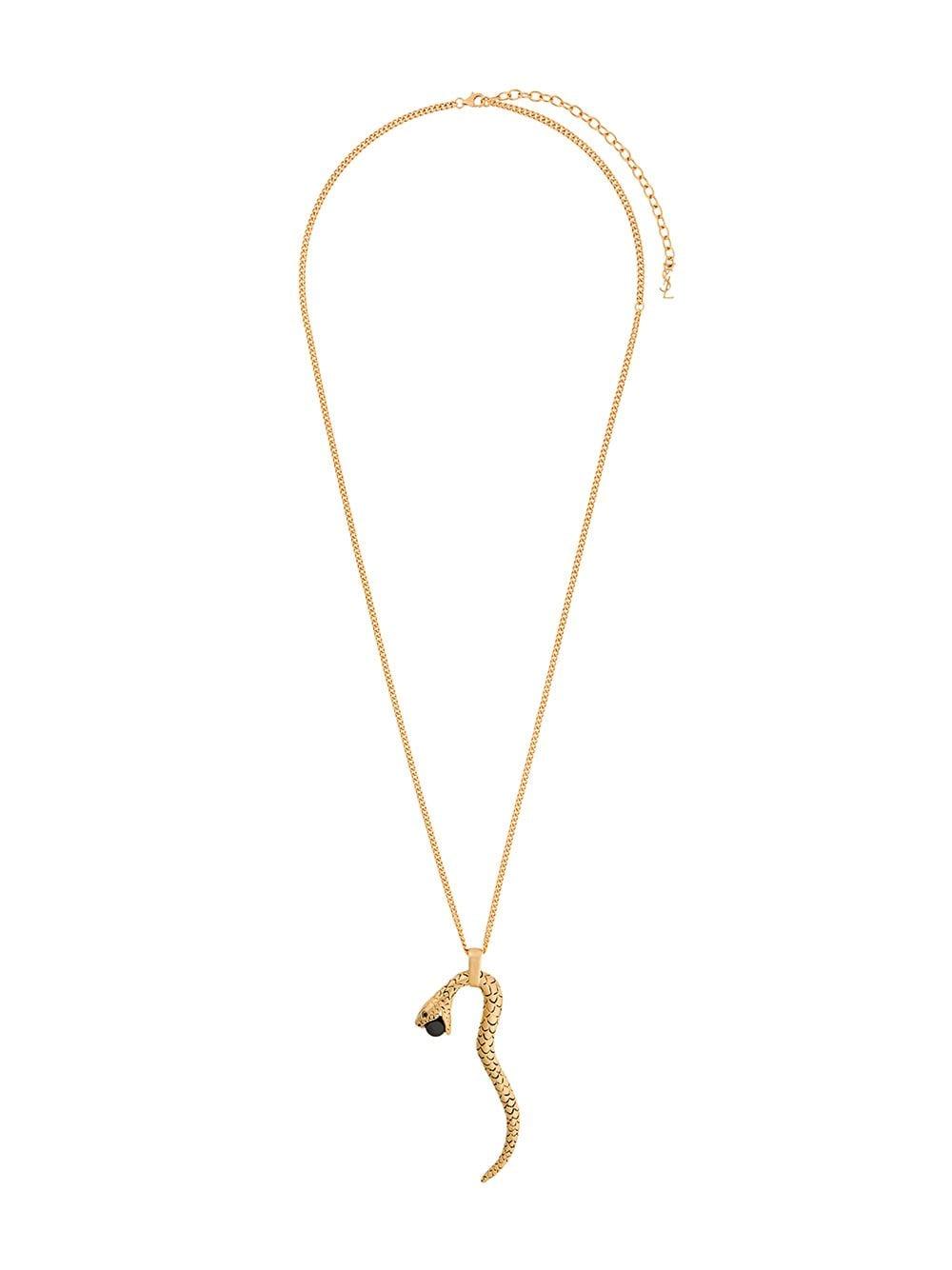 6c10e51397f Saint Laurent Snake pendant necklace $414 - Buy Online SS19 - Quick  Shipping, Price