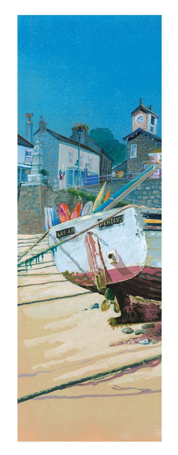 PZ.54. in Mousehole Harbour, Cornwall Giclee Print