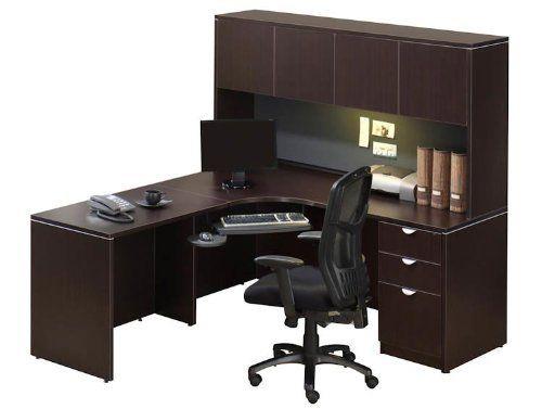 corner desk with hutch jha150office source. $895.00. locking 3