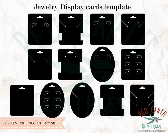 Jewelry Card Holder Templatesearrings Card Holder Etsy In 2021 Jewelry Template Jewelry Card Jewelry Display Cards