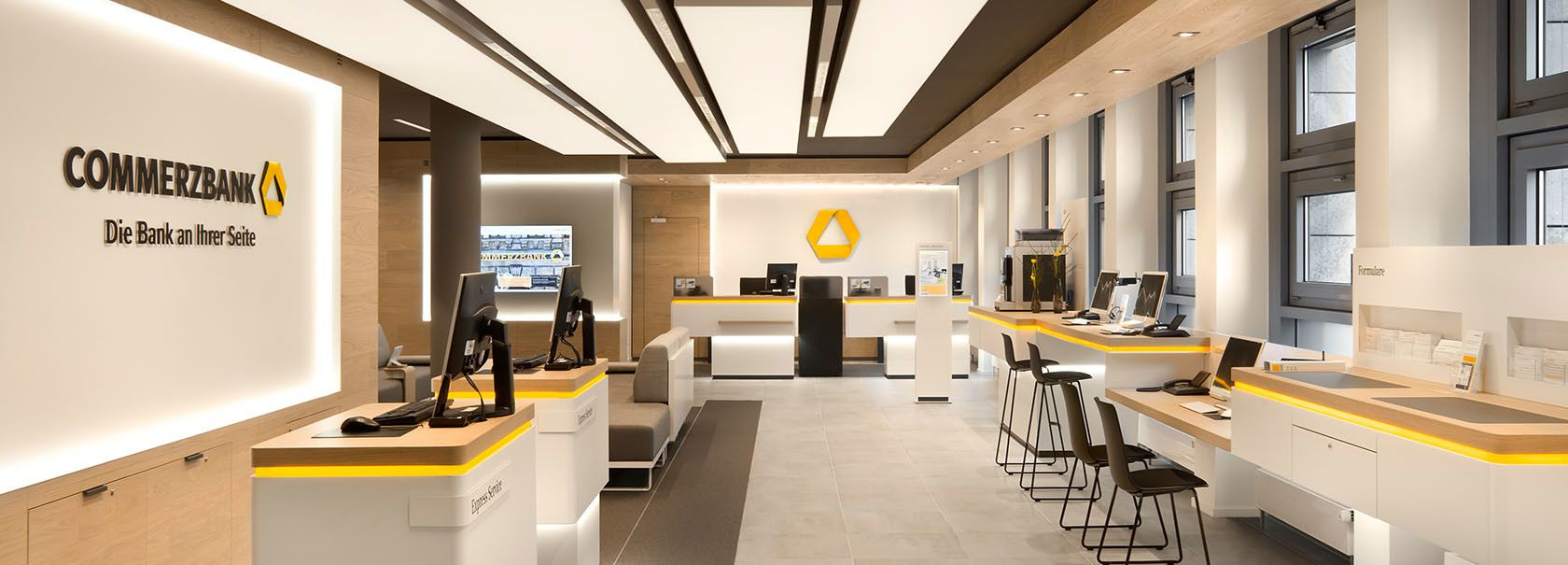 Commerzbank Flagship Branch Concept Bank Interior Design Bank