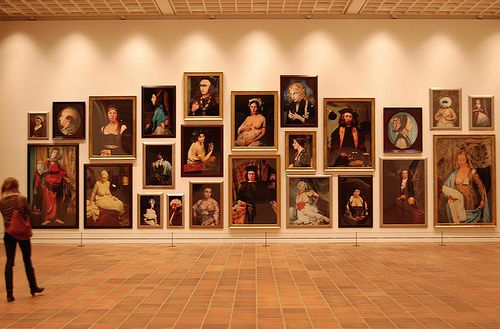 Staged Photos Of Old Masters By Cindy Sherman In Art Museum Copenhagen Salon Style Hanging Complements The