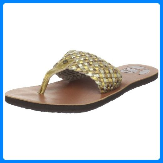 Original Reef Zehentrenner Zehensandalen Goddes Gold Silber Leder Neu Zehentrenner Fur Frauen Partner Link Goddess Sandals Womens Sandals Flat Sandals