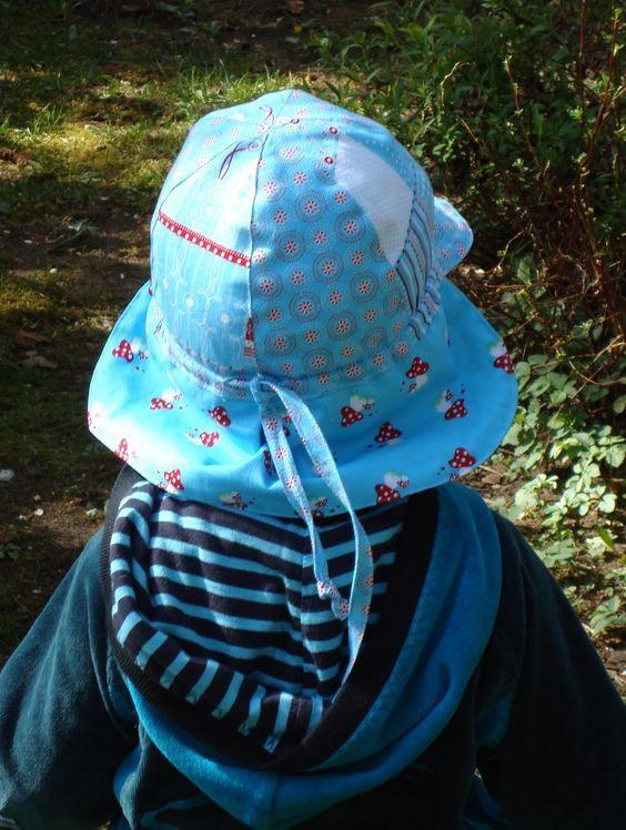 gratis ebook / schnittmuster: sommermütze mit nackenschutz ...