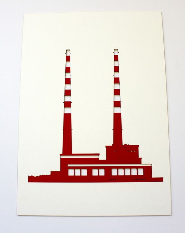 Lasercut Pigeon House Poolbeg Print Jam Art Prints Irish Art Pigeon House Shop Design