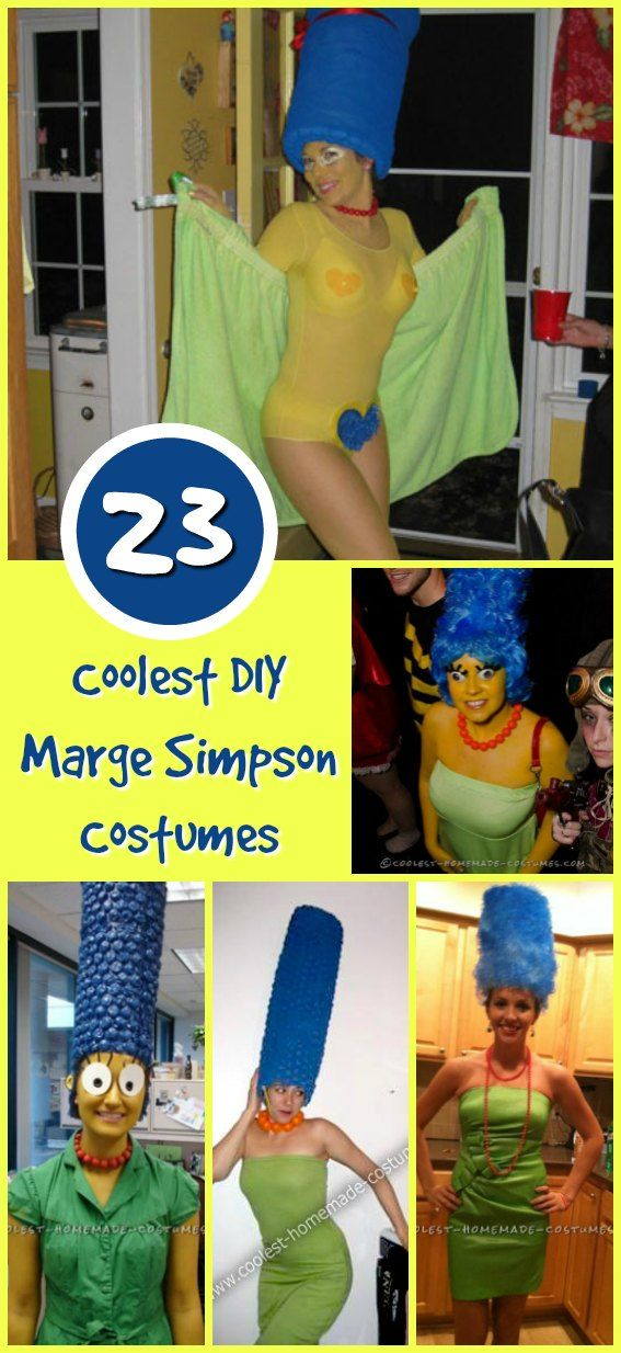 23 Awesome Blue Haired Marge Simpson Costume Ideas Marge Simpson Costume Simpsons Costumes Marge Simpson