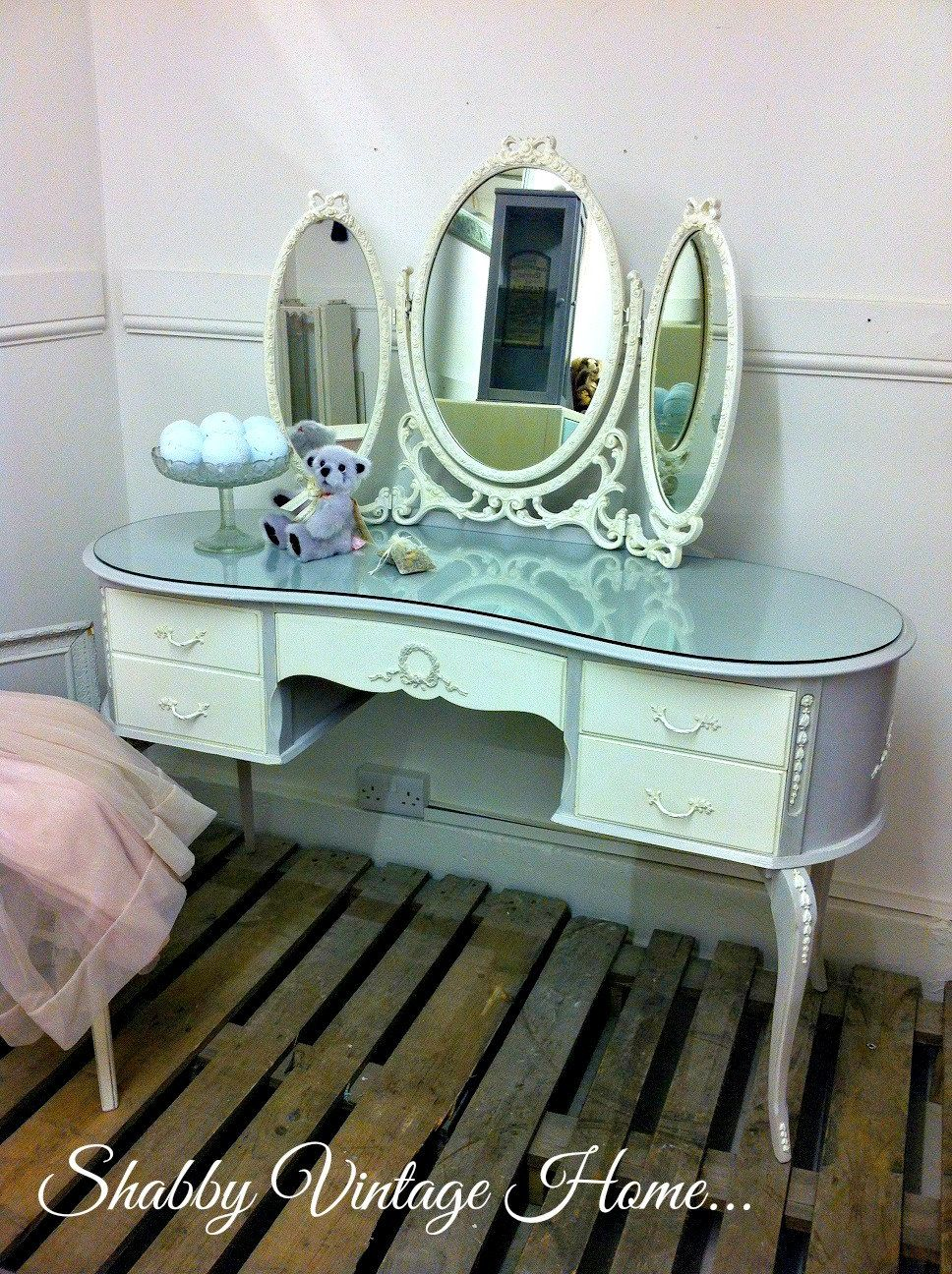 huge discount 1baf3 80f06 Dressing Table Olympus Louis Kidney Shaped Painted French ...