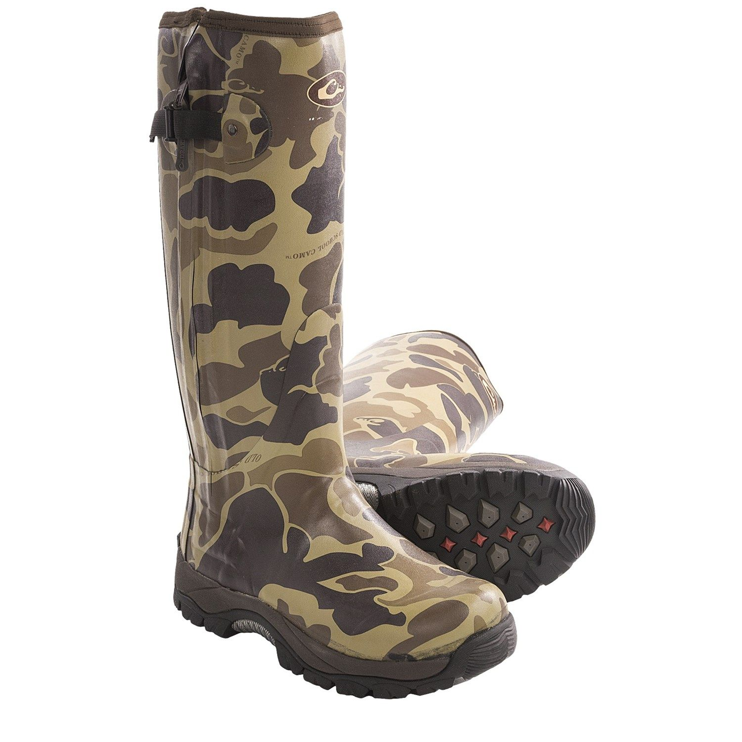 Drake MST Side Zip Camo Knee-High Mudder Rubber Boots - Waterproof ...