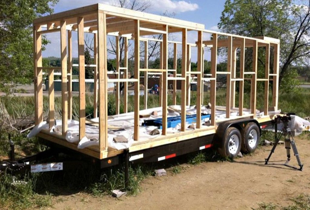 Building On A Trailer Google Search Tiny House Trailer