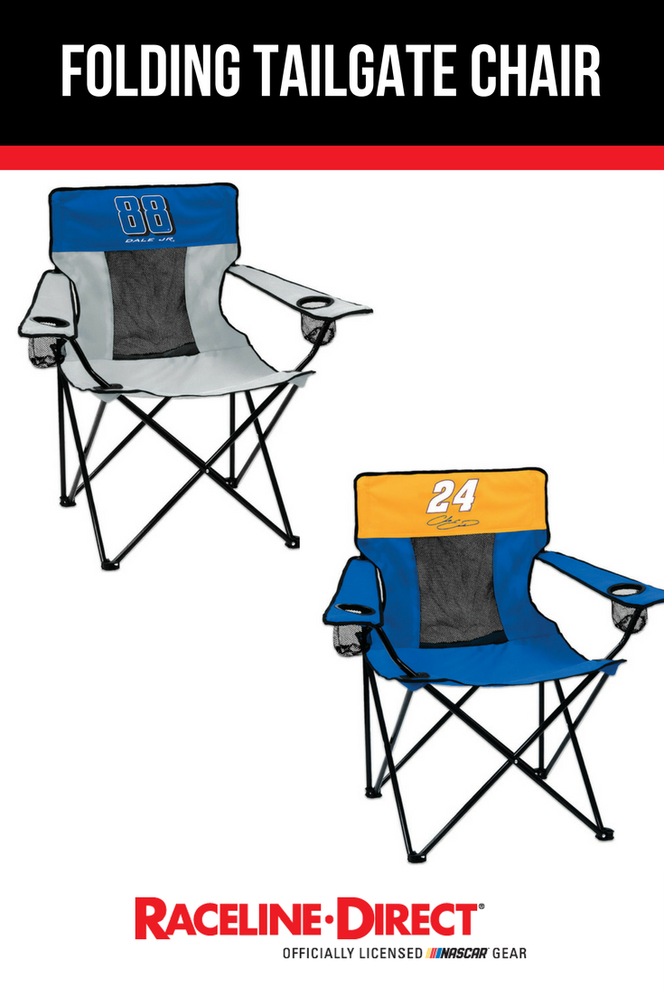 sit back relax and watch the race in a nascar driver folding