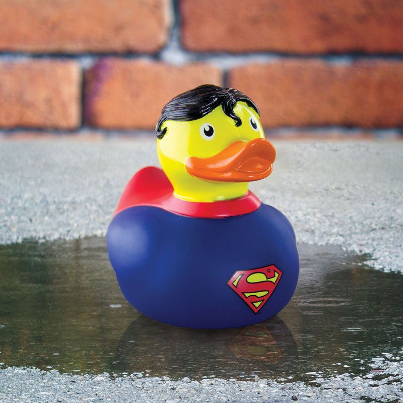 Superman Rubber Duck Bath Toy Funky Dc Comics Superhero Superman ...