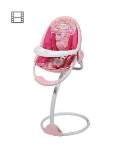 Baby Annabell 3 In 1 Highchair Swing And Comfort Seat ...